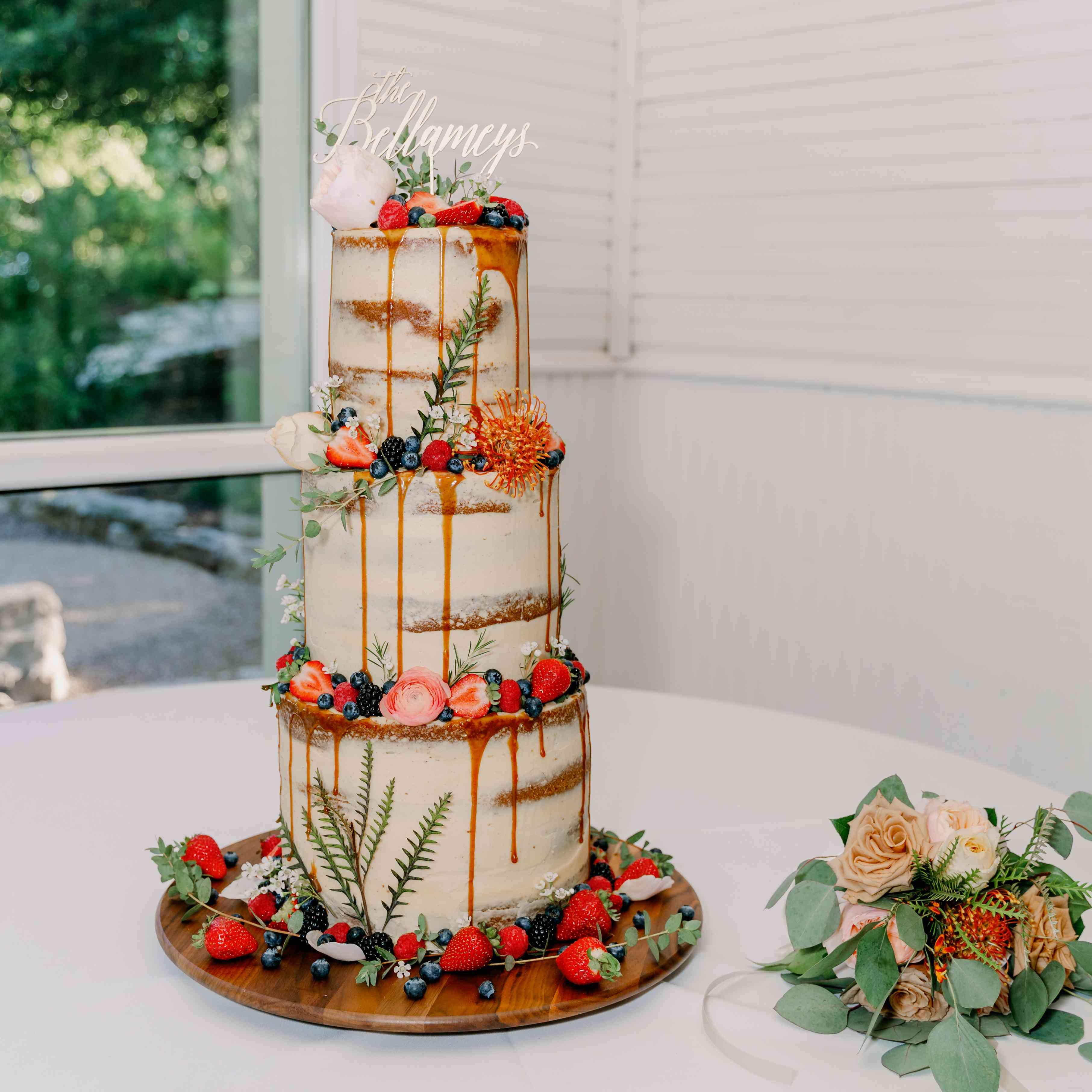 wedding cake with drip