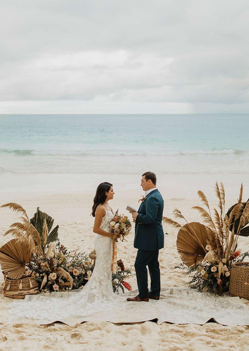 tulum beach elopement