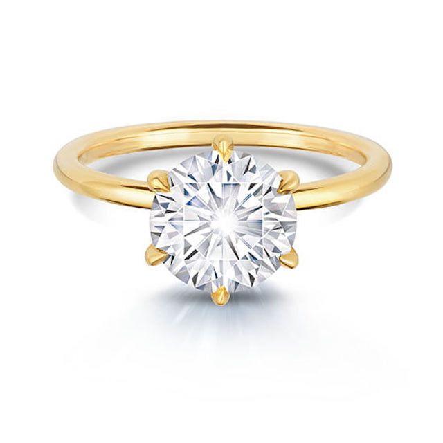Marisa Perry Six Prong DE Solitaire Ring