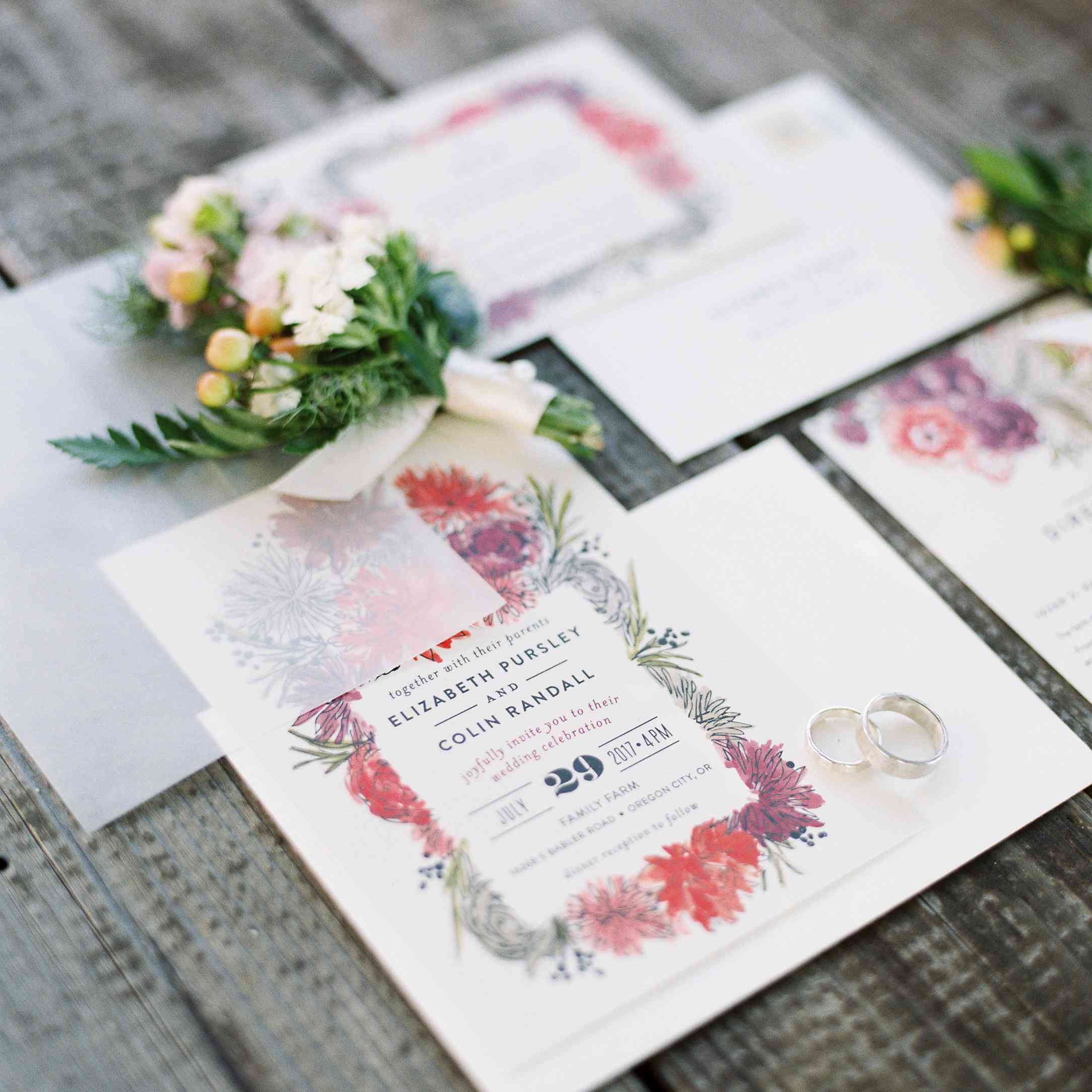 When Do You Send Out Wedding Invitations.Wondering What To Include In A Wedding Invitation Suite Here S