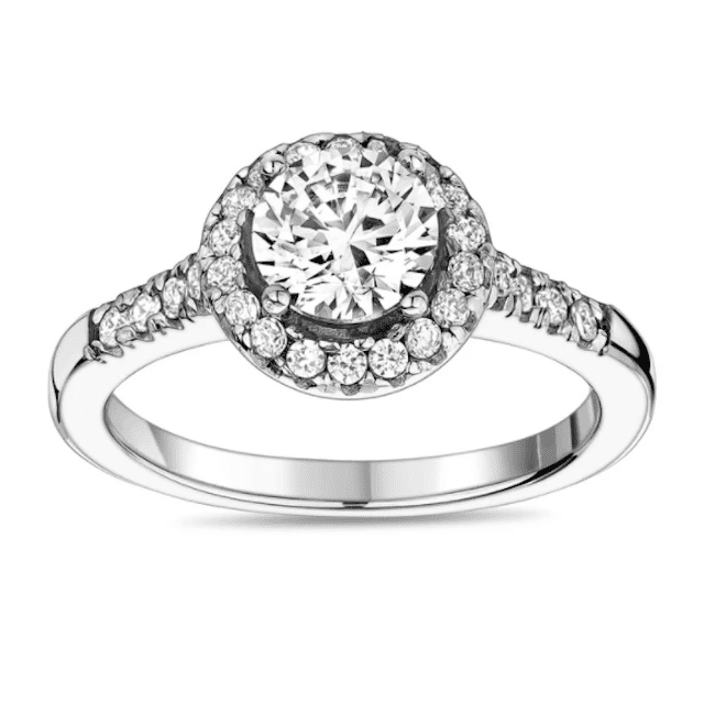The Steel Shop Classic Halo Engagement Ring