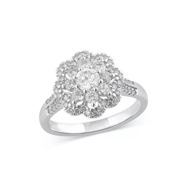 Bloomingdale's Diamond Flower Ring