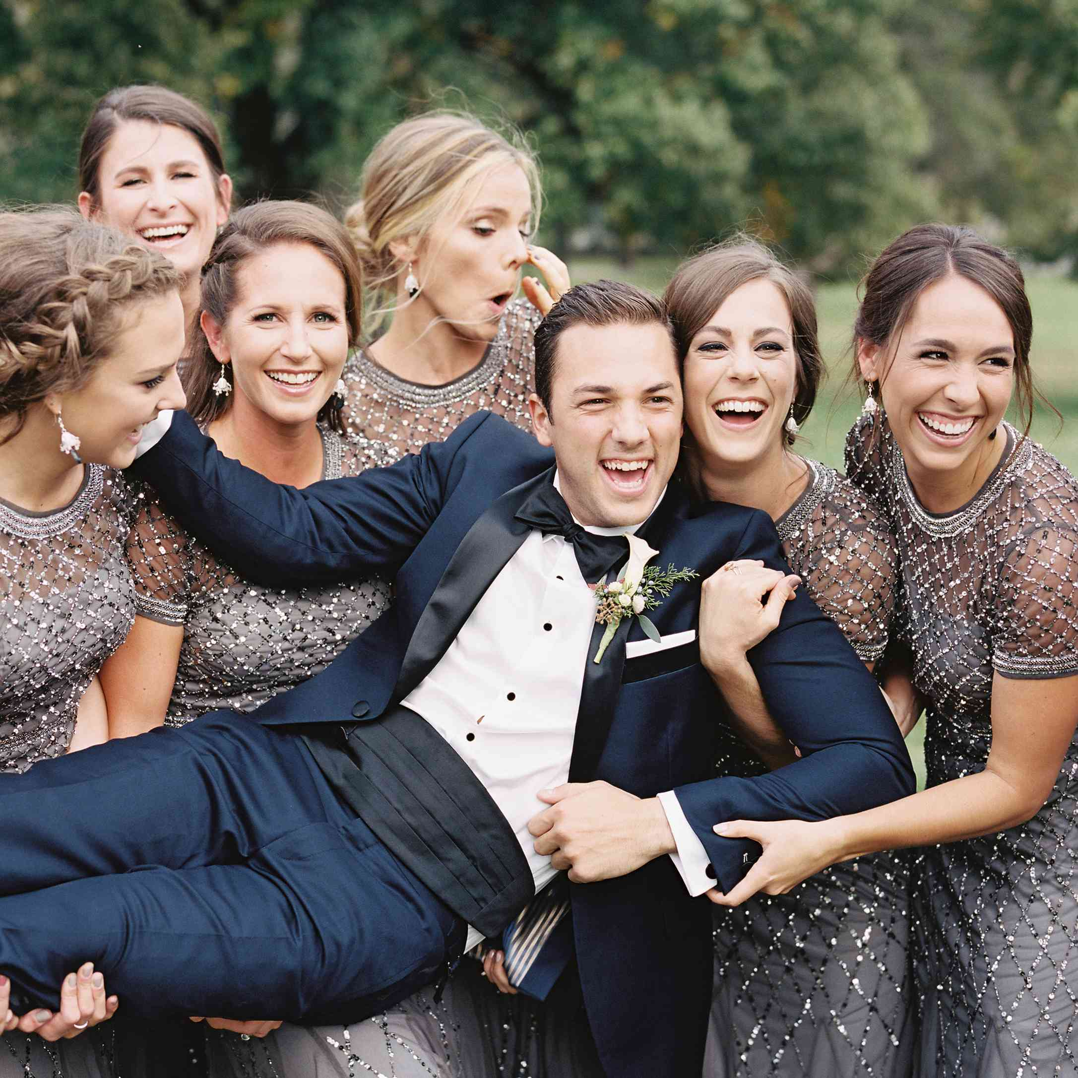 <p>Groom with bridesmaids</p><br><br>
