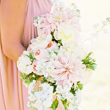A white and pink bouquet