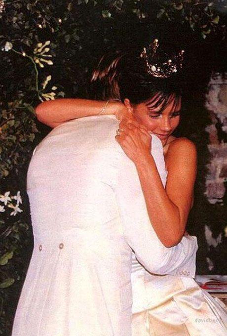 Victoria Adams marries David Beckham in Vera Wang, 1999