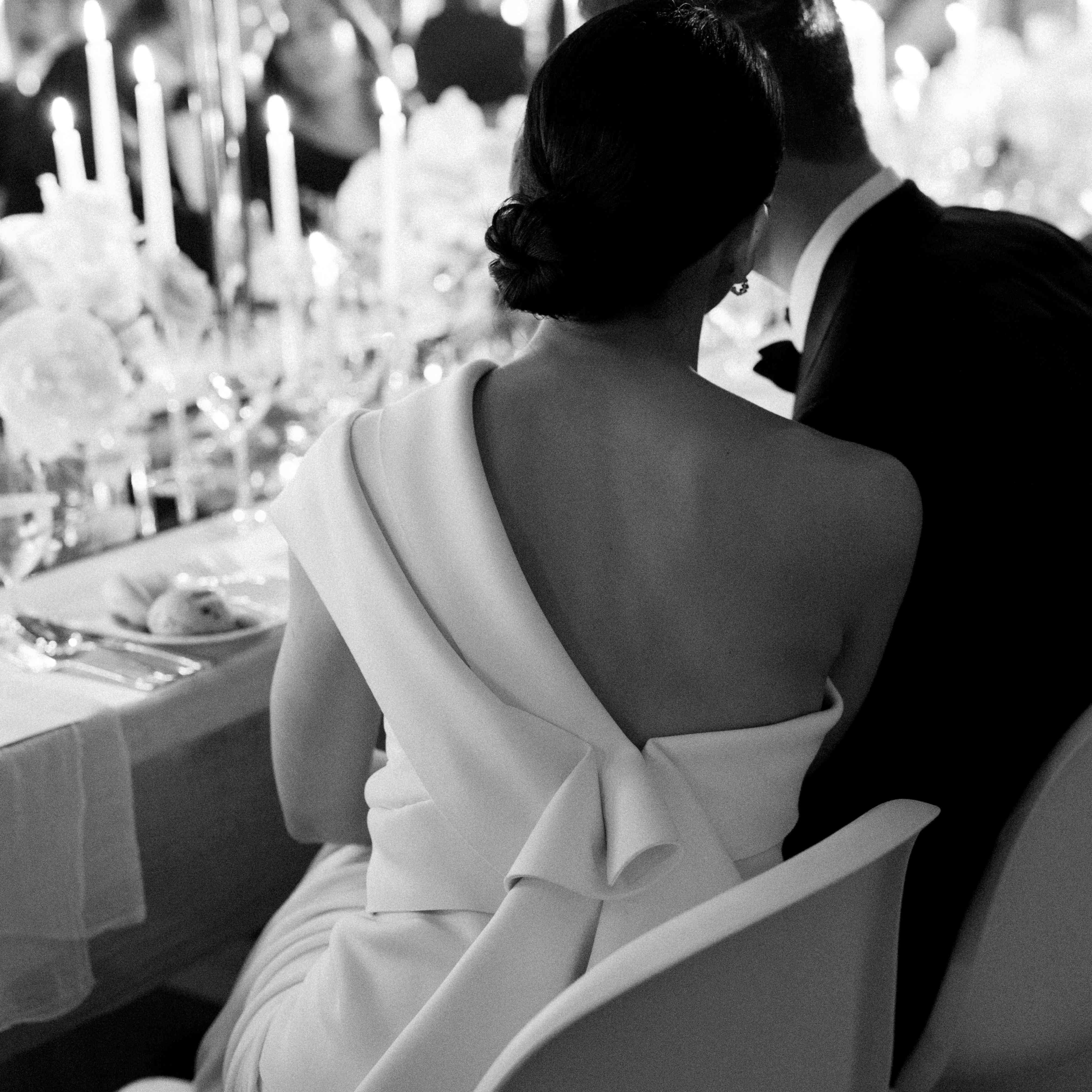 modern venice wedding, bride and groom reception
