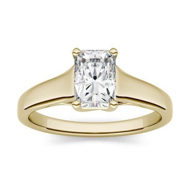 Charles & Colvard Forever One 2.70CTW Radiant Near-Colorless Moissanite Solitaire Engagement Ring