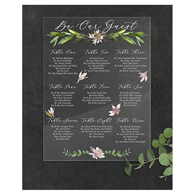 Pressed Flower Style Decor Sign