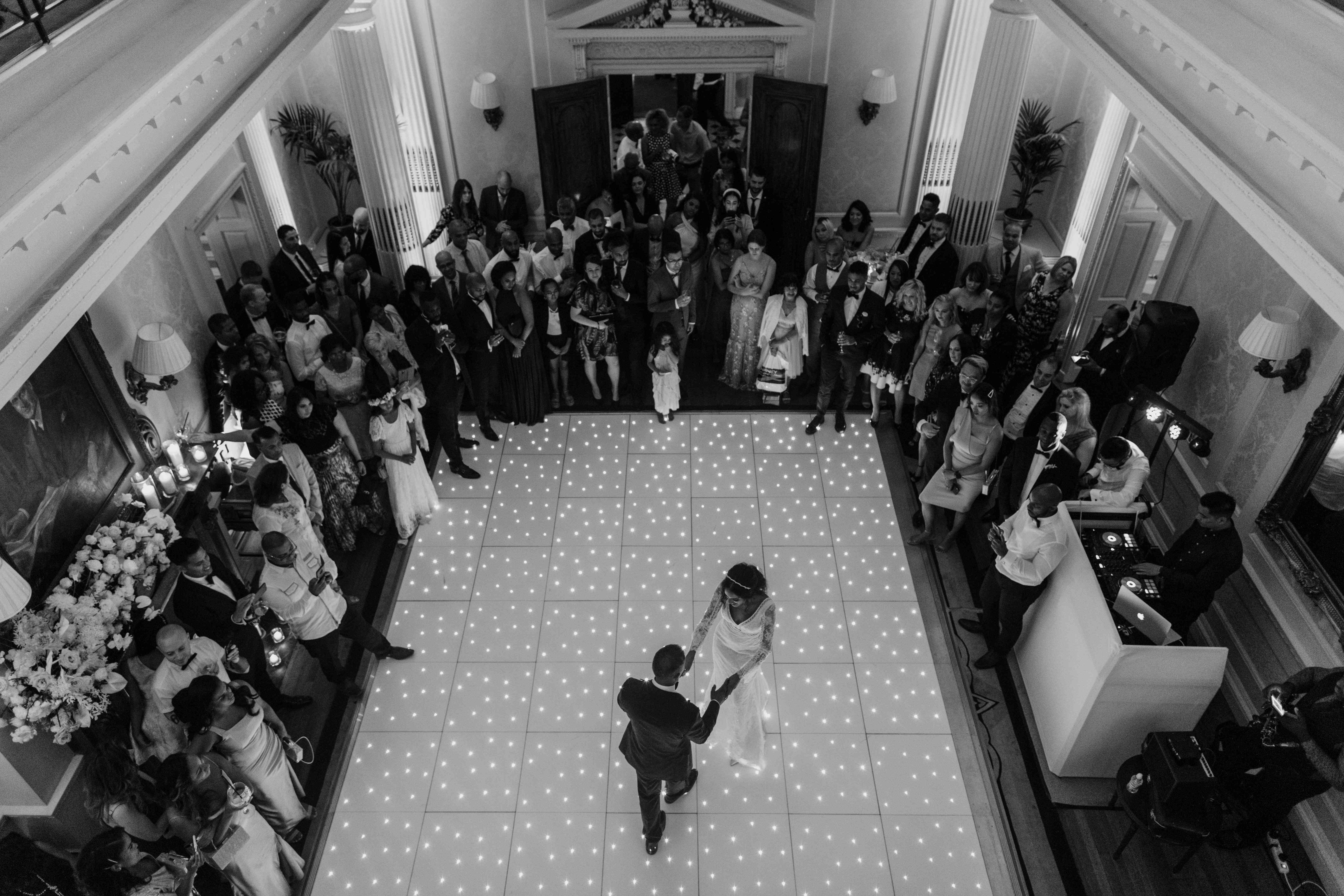 The first dance and dance floor
