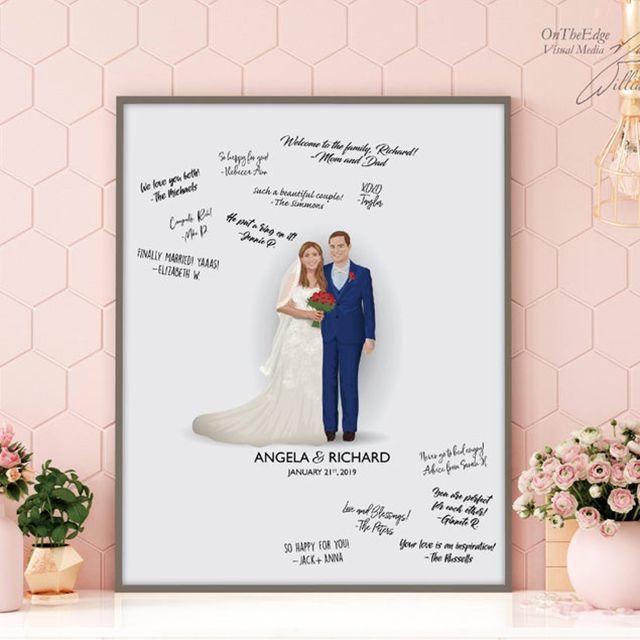 Couple Bride Groom Him Her Heart Keepsake Personalised Wedding Gift Present