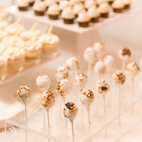 Cake pops on a dessert table