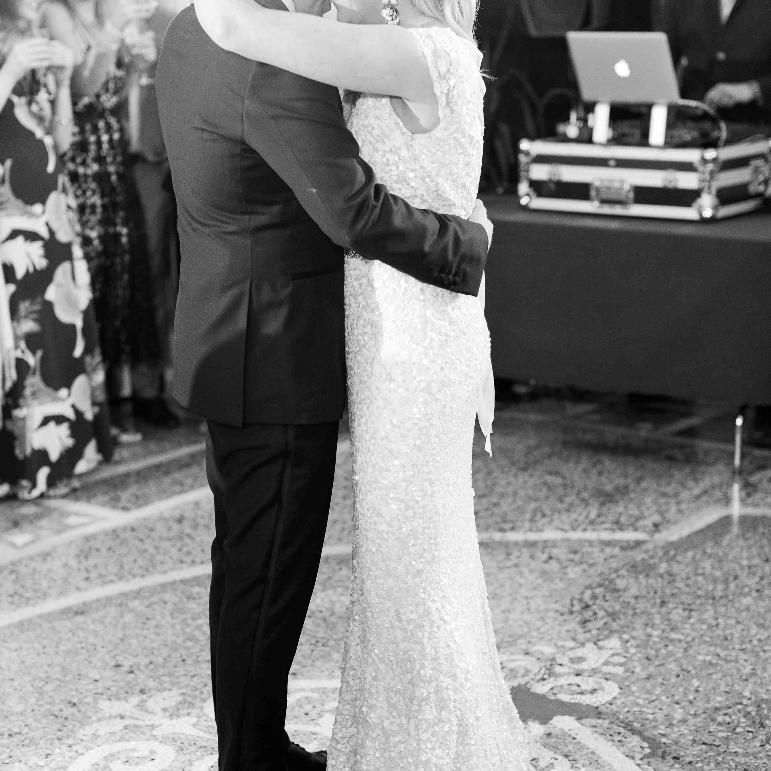 <p>Couple dances together at wedding</p><br><br>