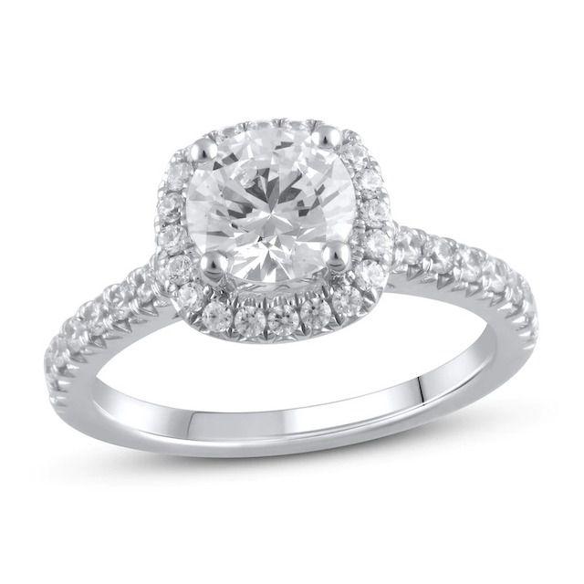 Jared Lab-Created Diamond Engagement Ring 2 ct tw Round 14k White Gold