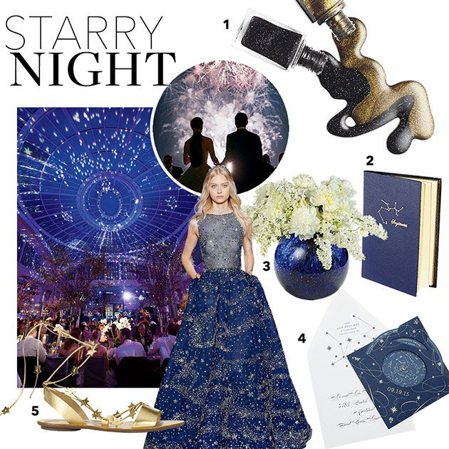 A Formal And Romantic 'Starry Night' Wedding Theme