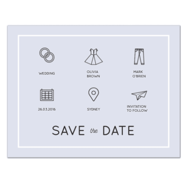 Modern Save the Date by Amelia S.