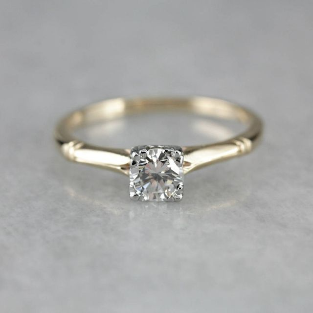 MSJewelers Classic Solitaire, Vintage Diamond Engagement Ring