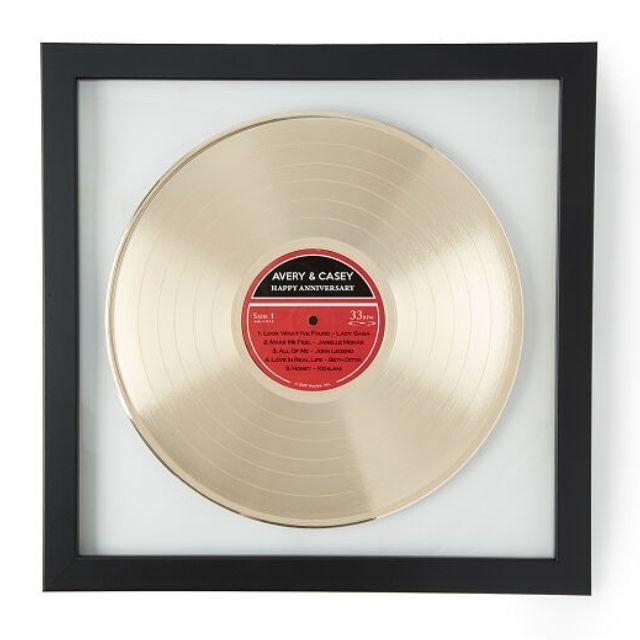 Uncommon Goods Personalized Metallic LP Record