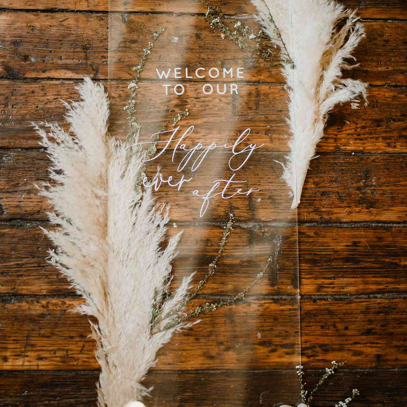 Lucite Wedding Welcome Sign