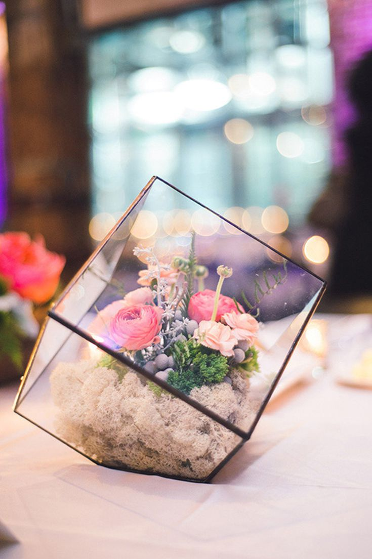 A Centerpiece For The Bride Who Isn T Flower Obsessed Wedding Terrariums