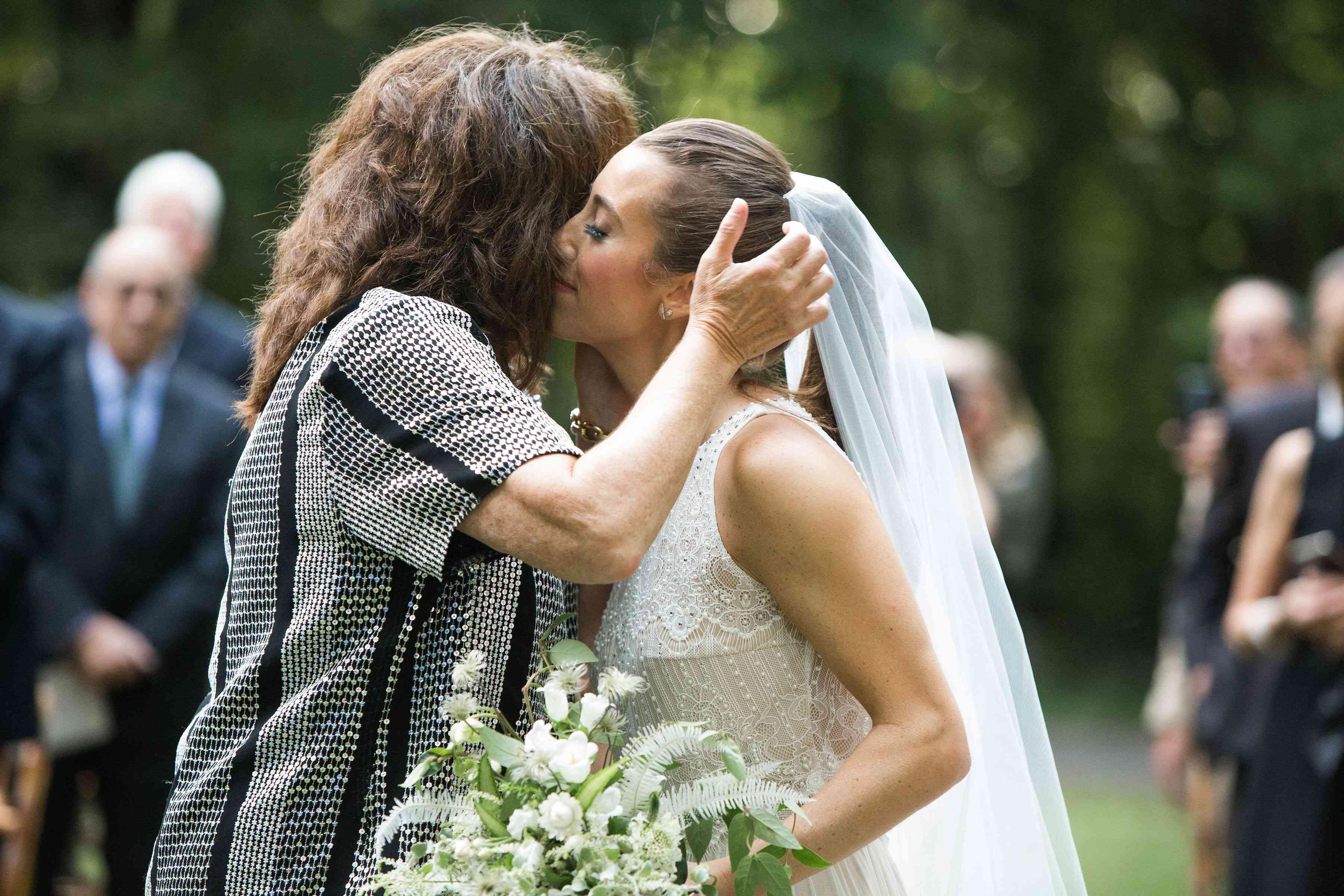 bride and mom