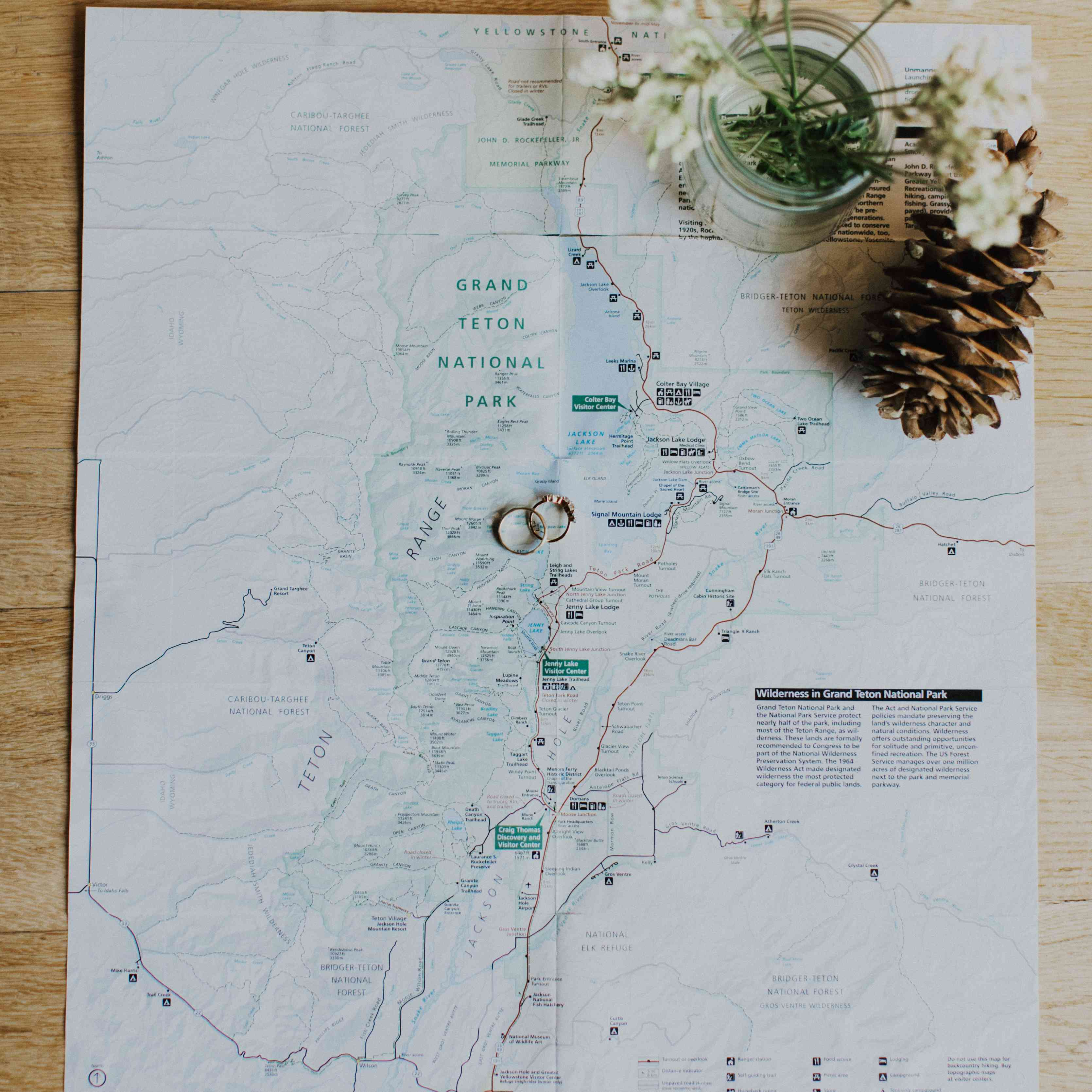 map of wedding location rings