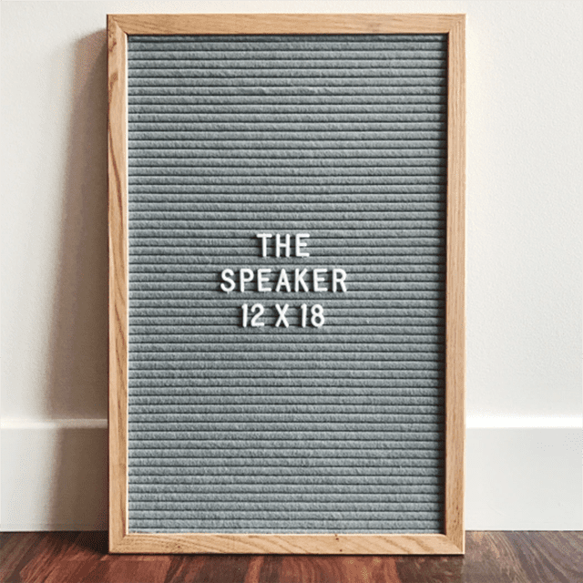 Shop Words and Co. The Speaker Grey Letterboard