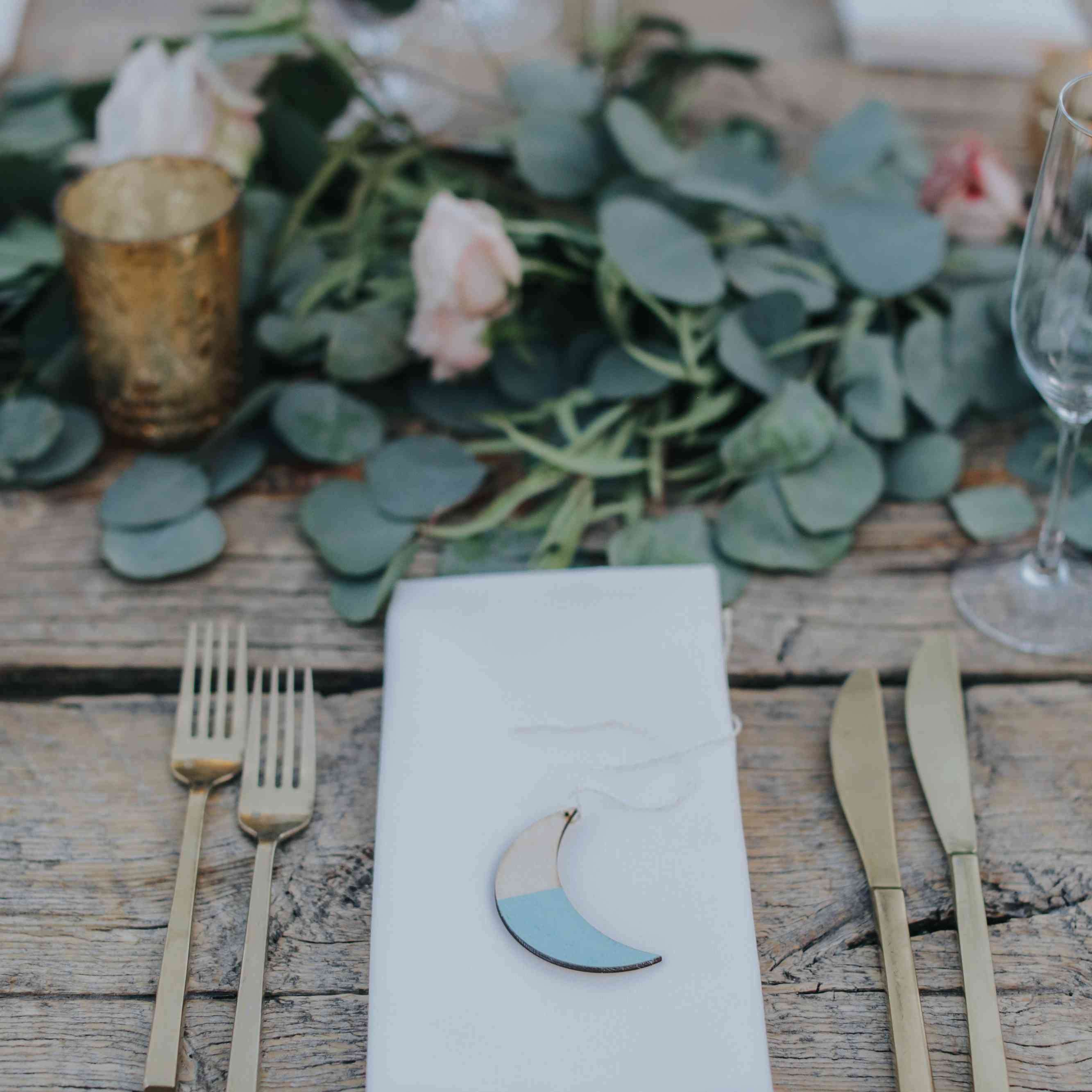 Crescent moon decor for tables