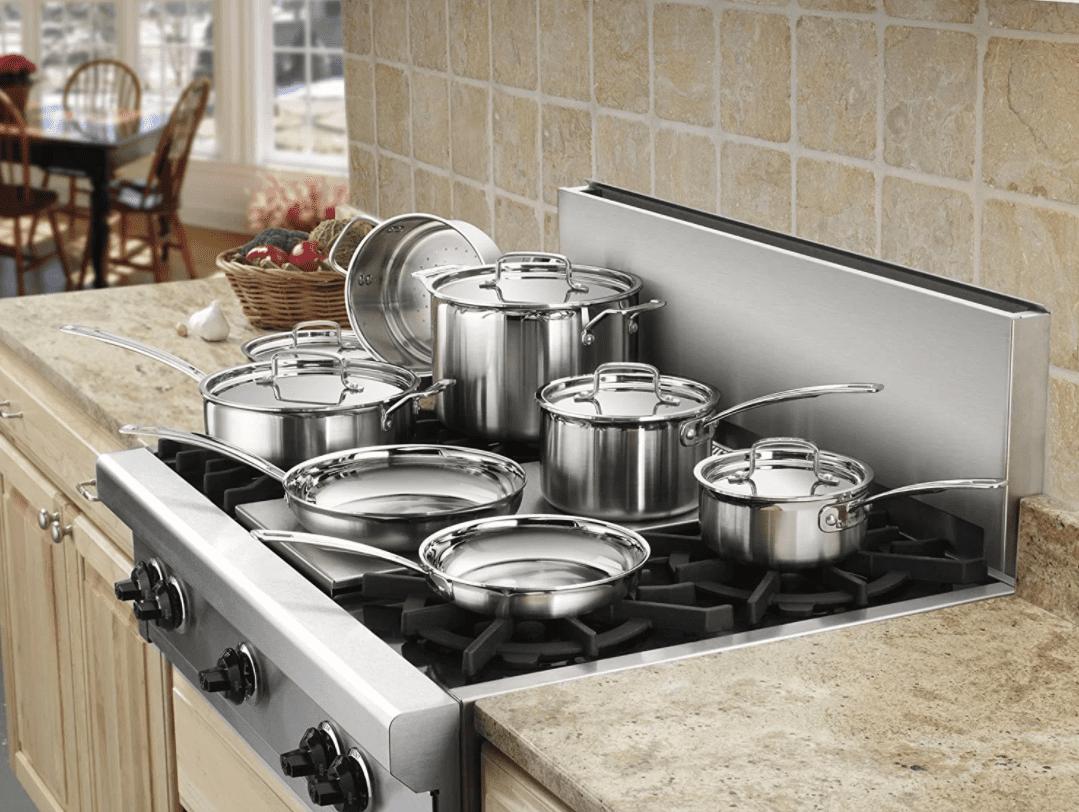 Cuisinart Multiclad Pro 12 Piece Stainless Steel Cookware Set