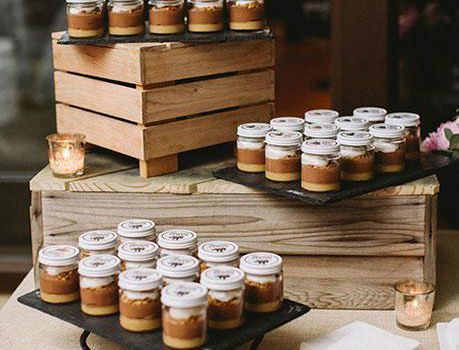 Chocolate mousse in mason jars