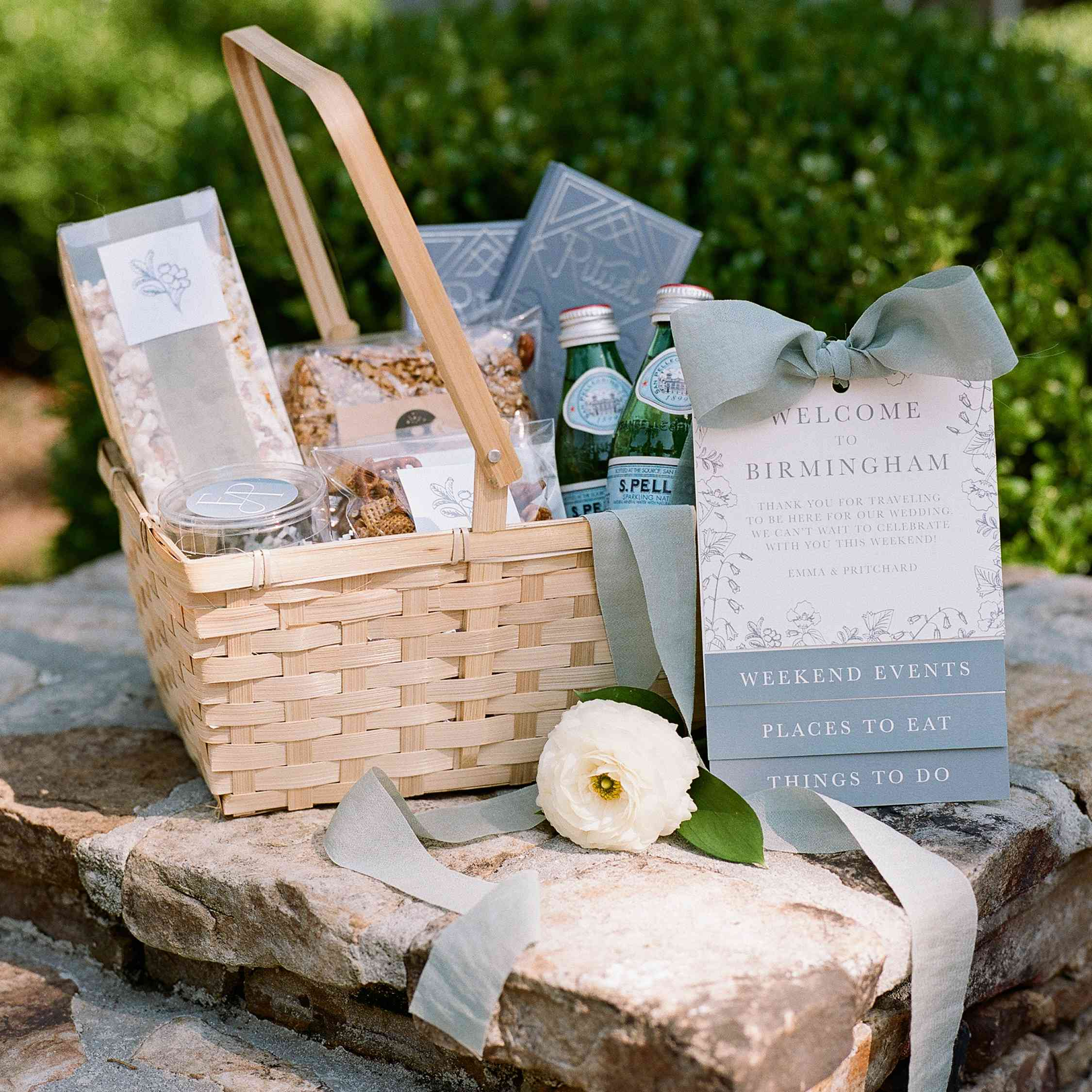 <p>welcome basket</p><br><br>