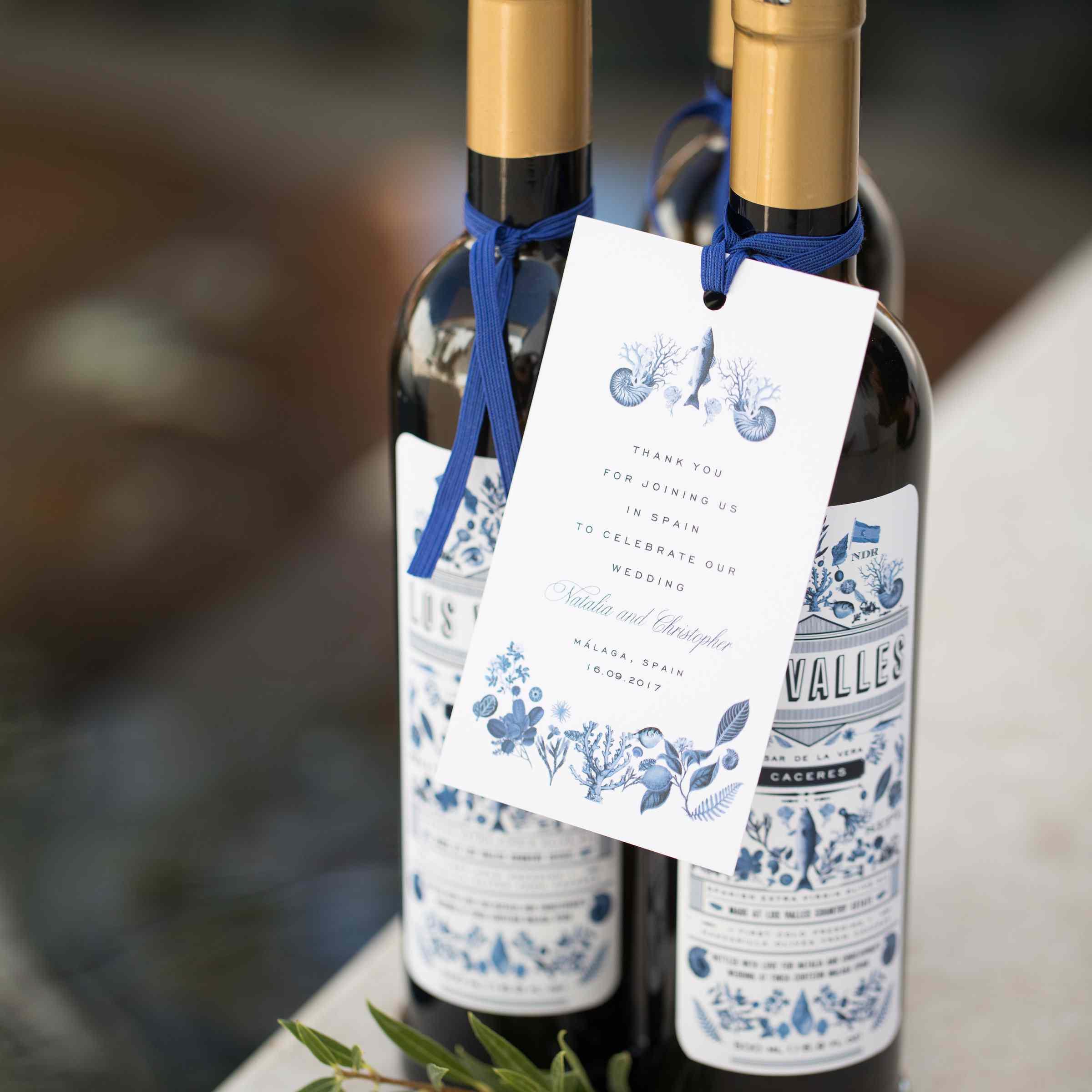 olive oil wedding favors