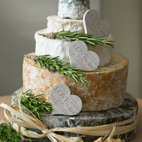 An alternative big day dessert consisting of four tiers of delicious cheese from West Country Cheese Co