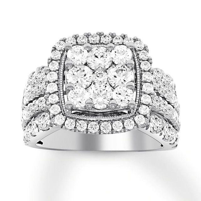Jared Diamond Engagement Ring Round 14K White Gold