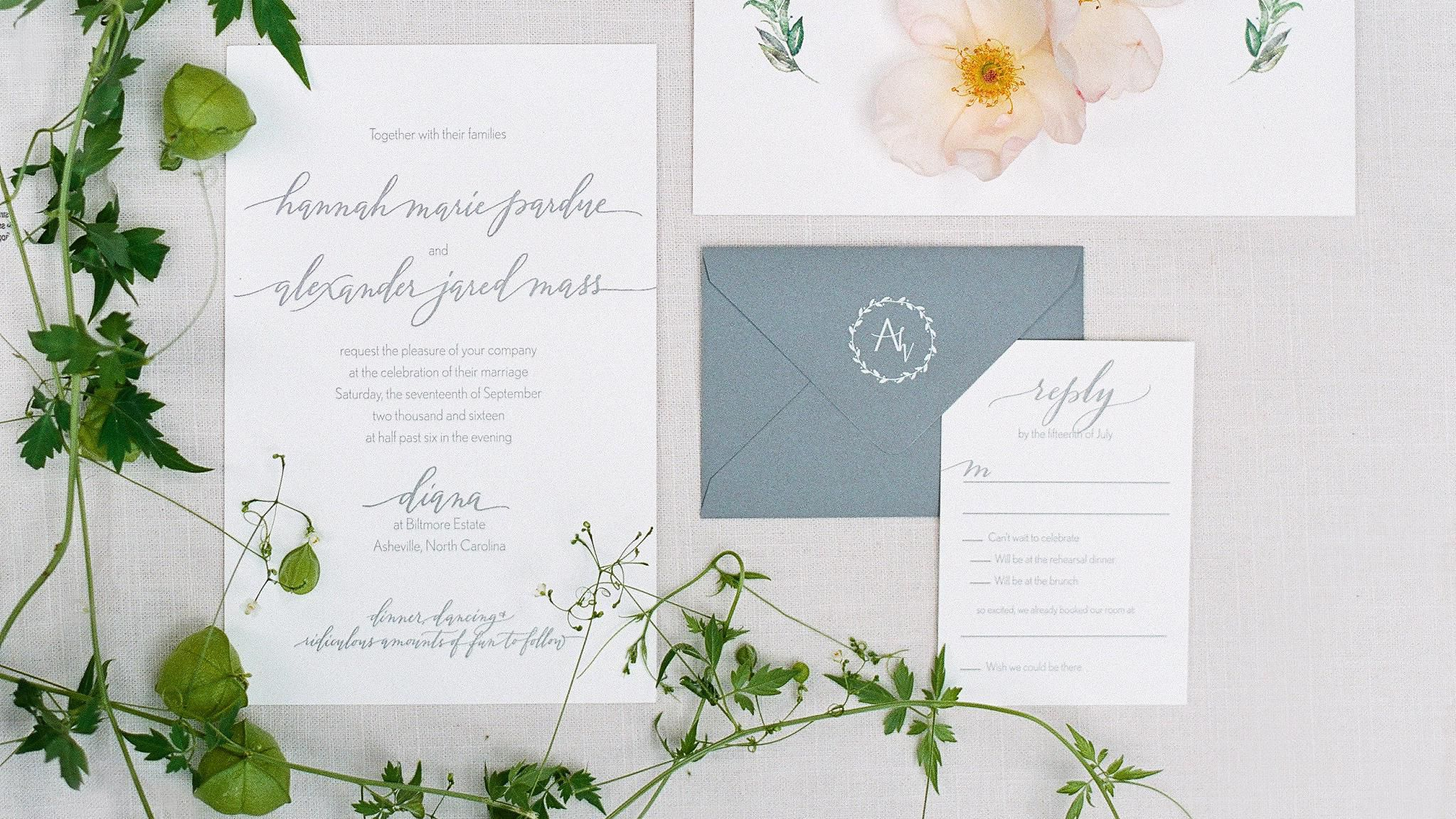 A Definitive Guide To Hand Canceling Your Wedding Invitation Envelopes