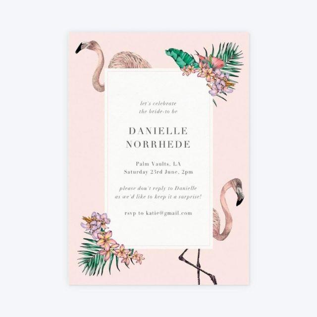 Papier Flamingo Bay