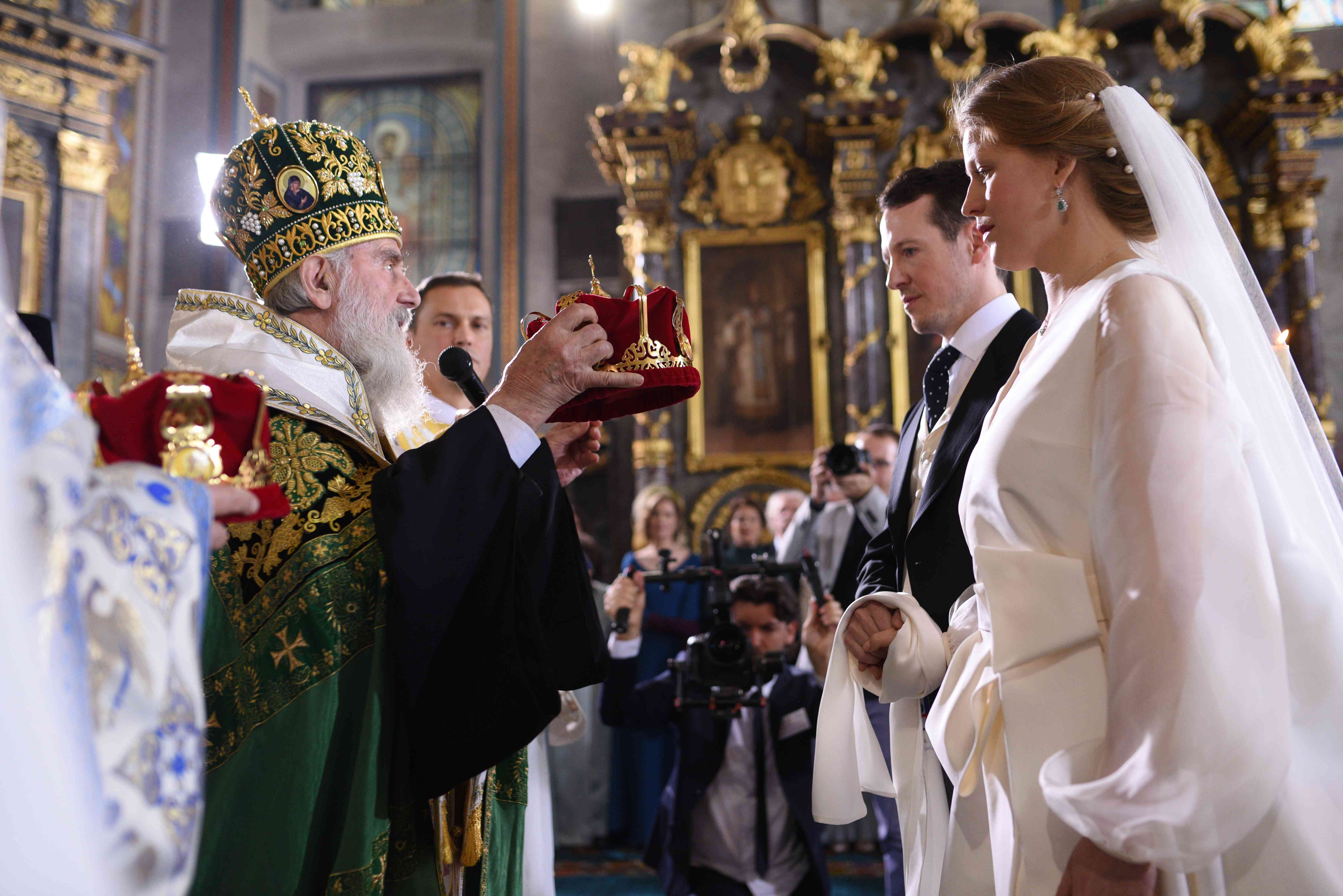 Bride and Groom with Crowns