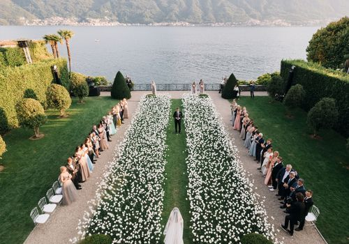 pretty ceremony aisle
