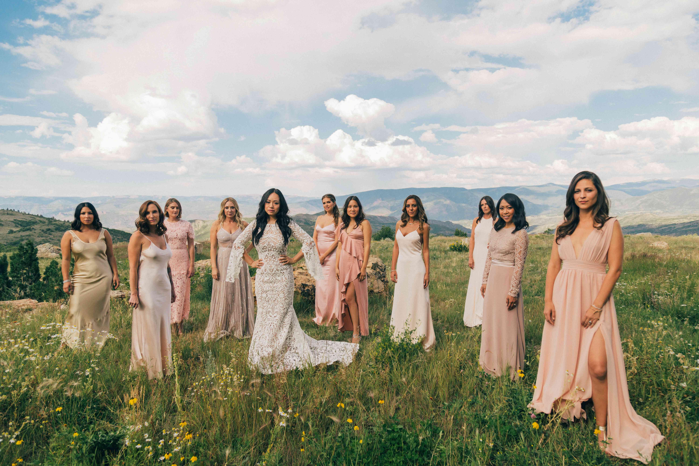 <p>Bride with bridesmiads</p><br><br>