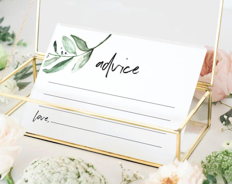 Wedding guest book advice cards