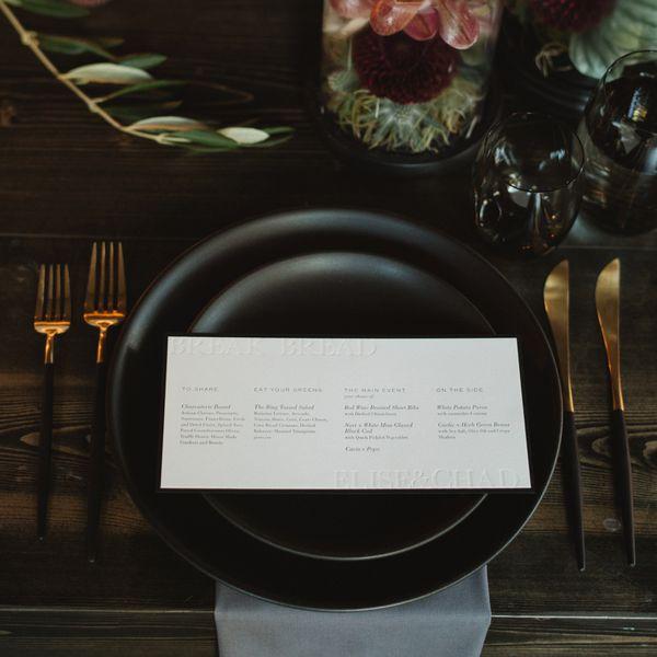 wedding menu card designs