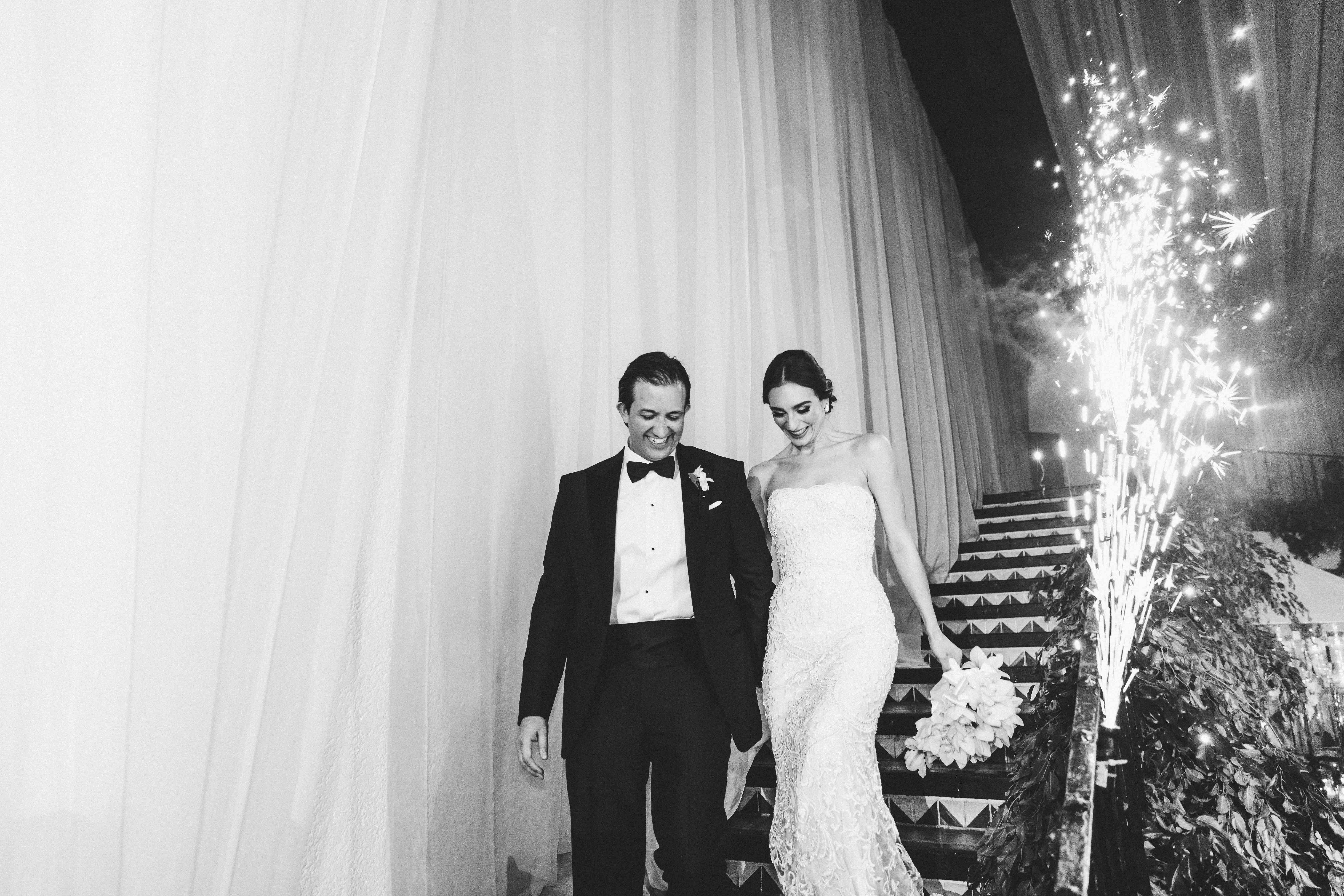 <p>reception entrance with sparklers</p><br><br>