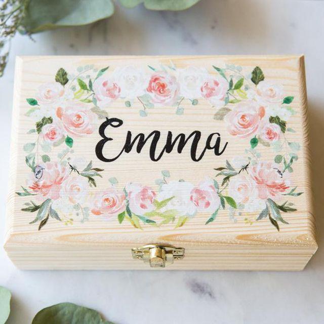 Etsy Personalized Flower Girl Jewelry Box