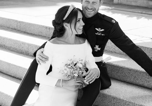 prince harry and meghan markle wedding portrait