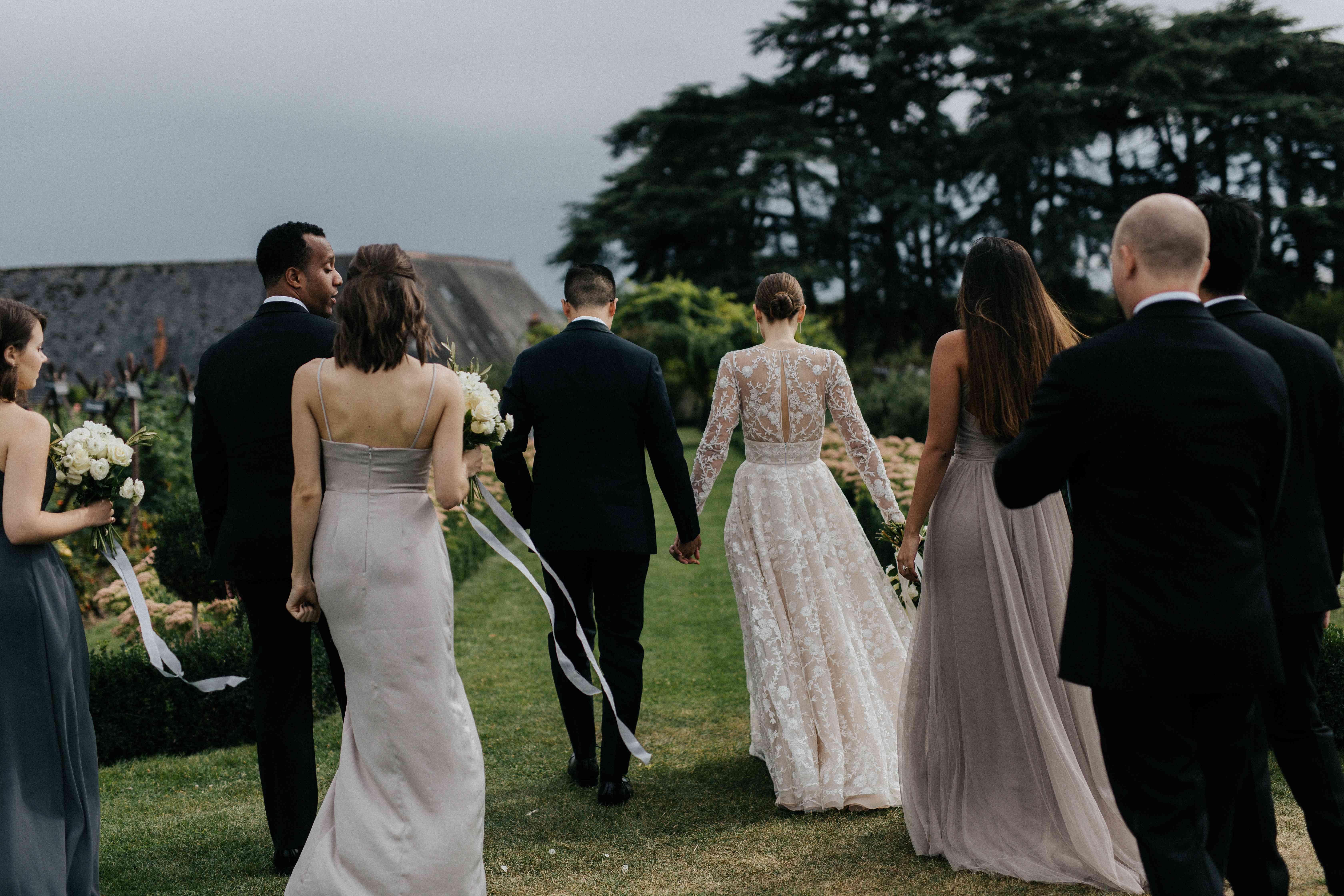 <p>bridesmaids and groomsman</p><br><br>