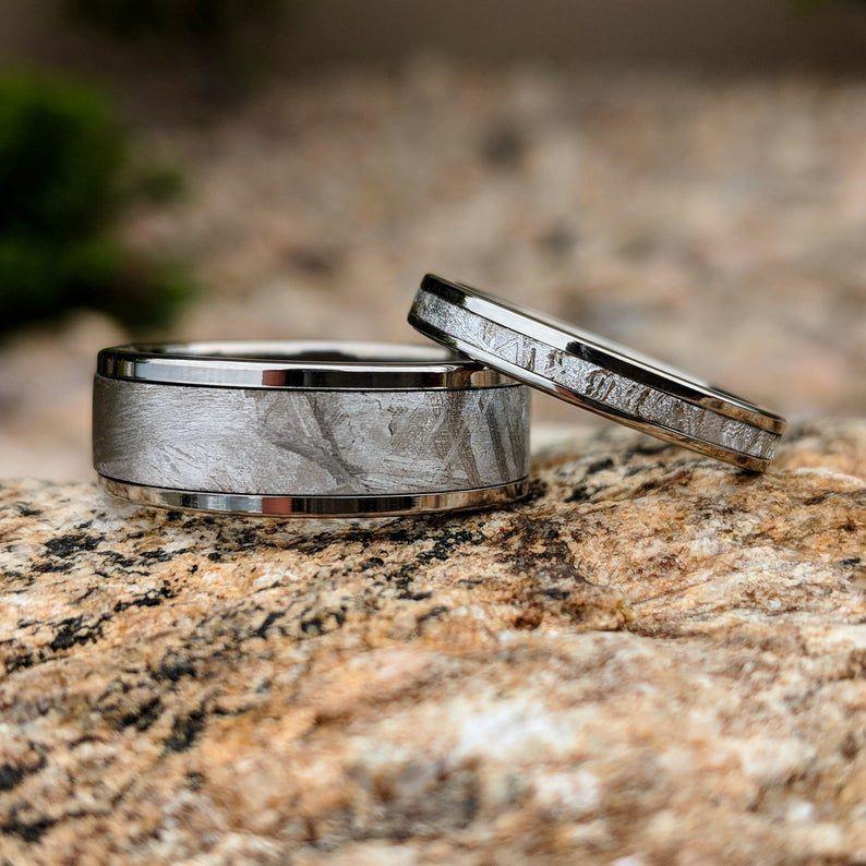 meteorite wedding bands