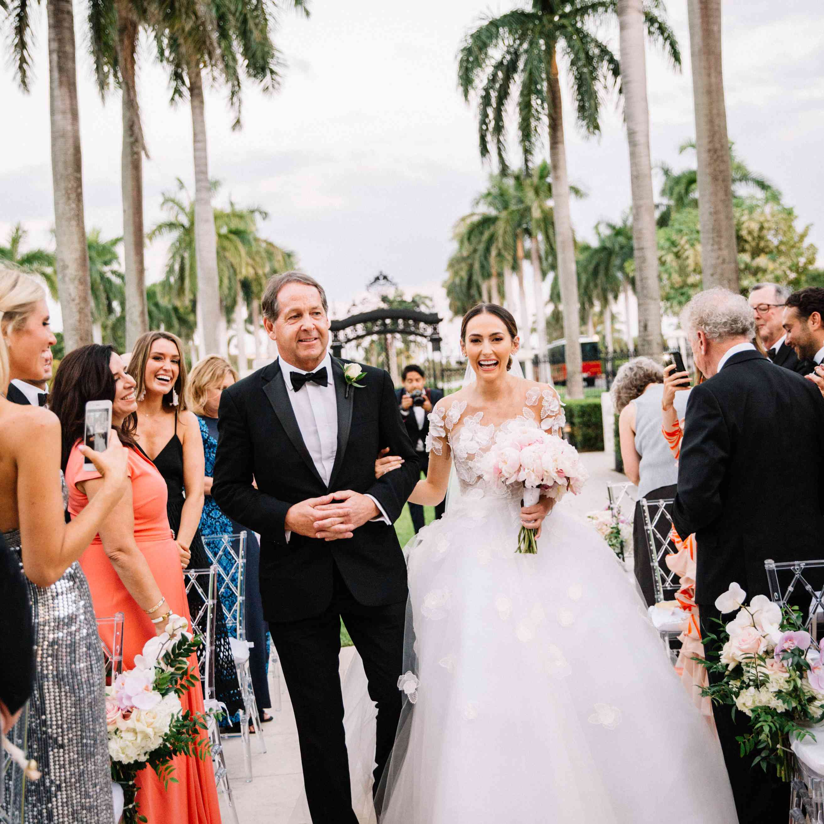 One Couple's Grand Palm Beach Wedding at the Flagler Museum