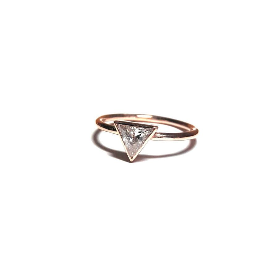 Ohannes Corlu Gold Solitaire Trillion Ring
