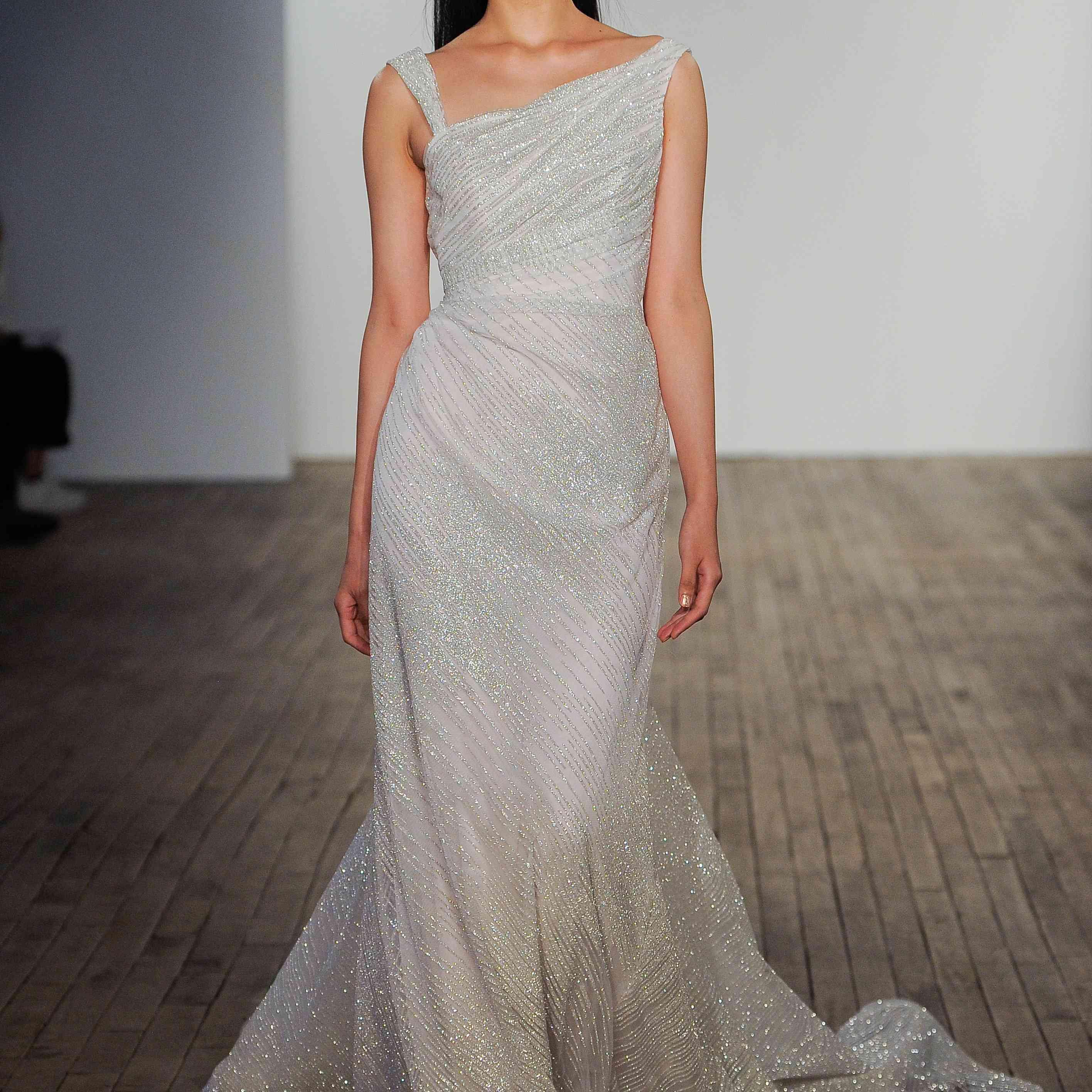 Meryl one-shoulder wedding dress