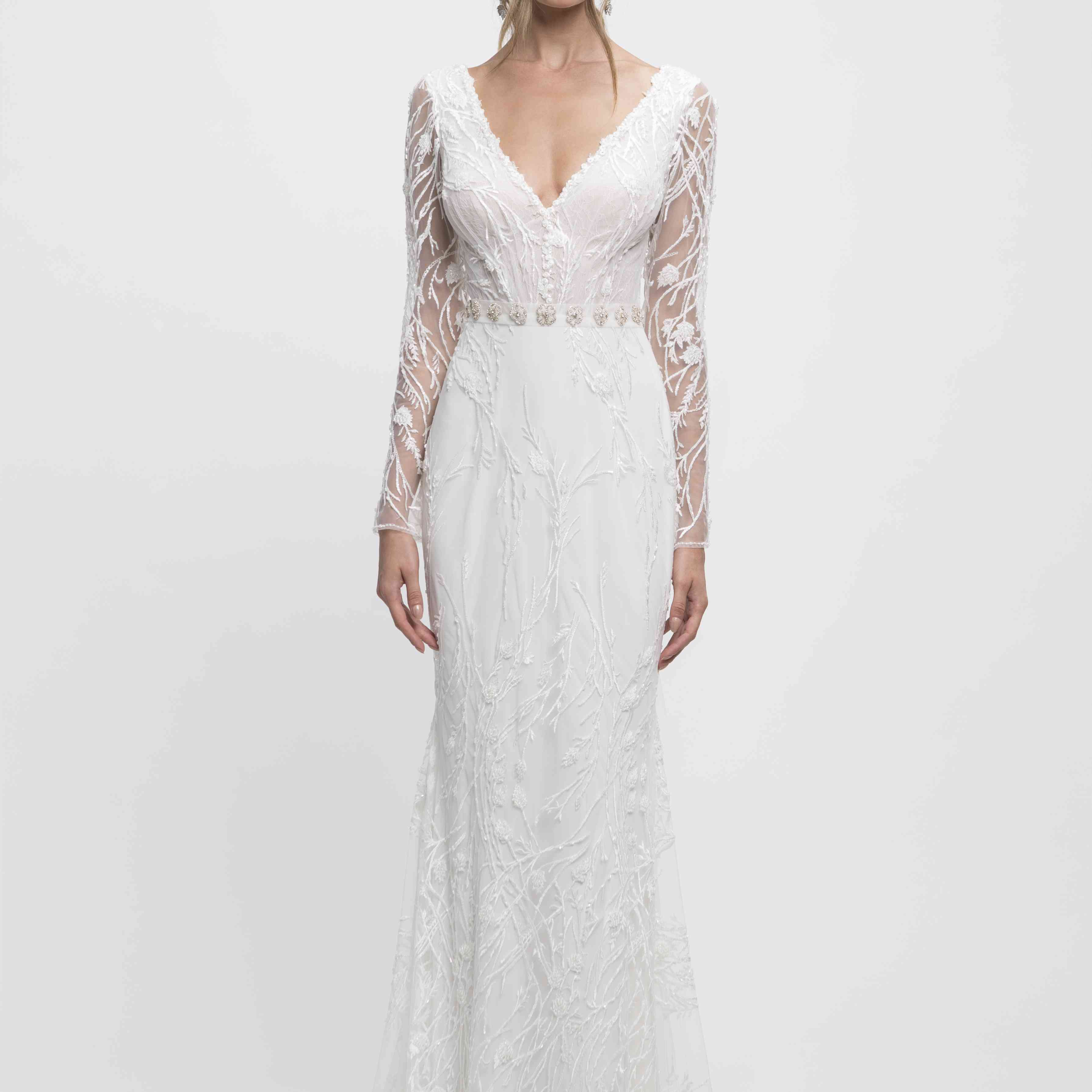 Aya long sleeve wedding dress