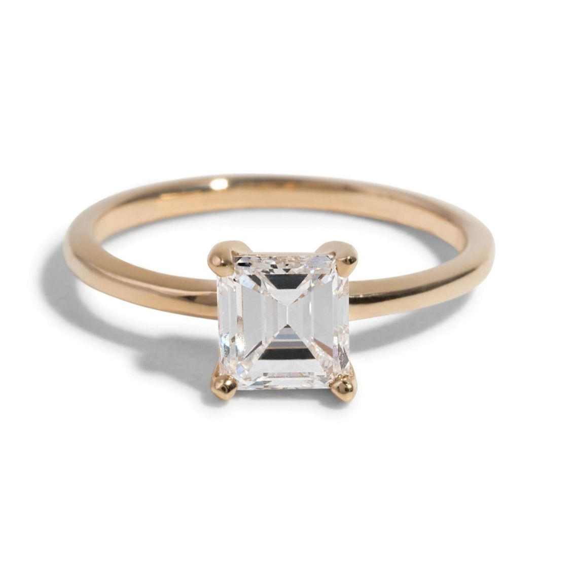 Bario Neal Custom Heirloom Asscher Cut Solitaire Engagement Ring